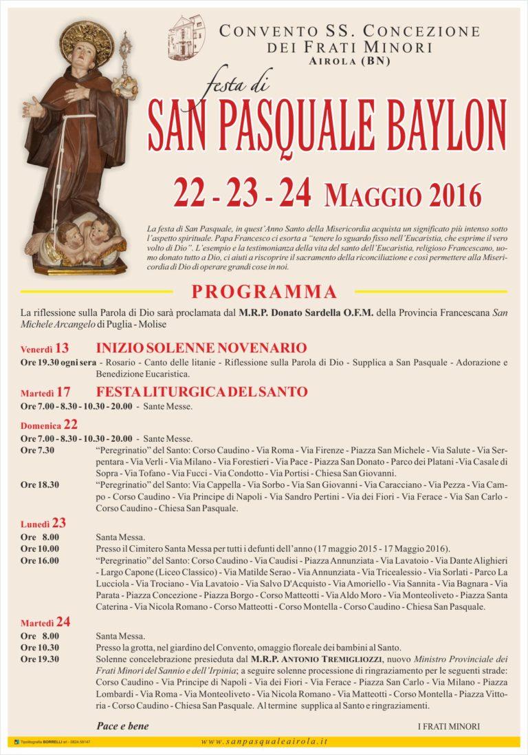 Manifesto San Pasquale Airola 2016
