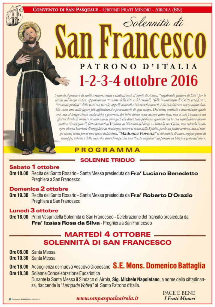 Manifesto San Francesco Airola 2016