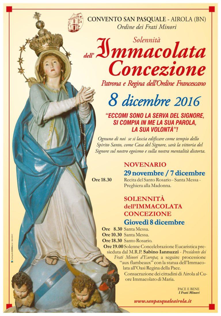 Manifesto Immacolata 2016 Airola