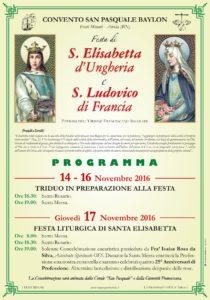 Manifesto S Elisabetta e S Ludovico 2016
