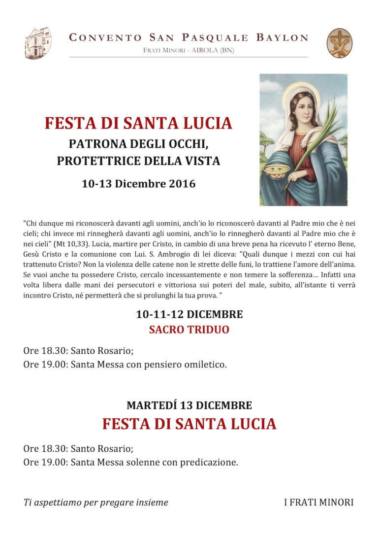 Festa Santa Lucia 2016
